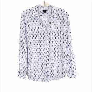4/$25 GEORGE Anchor Novelty Print Button Down